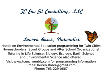 Twin Cities Environmental Education Consulting LLC