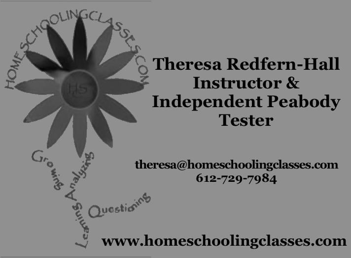 Theresa Redfern-Hall Homeschooling Classes
