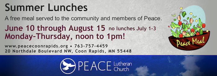Peace Lutheran Church Summer Lunches