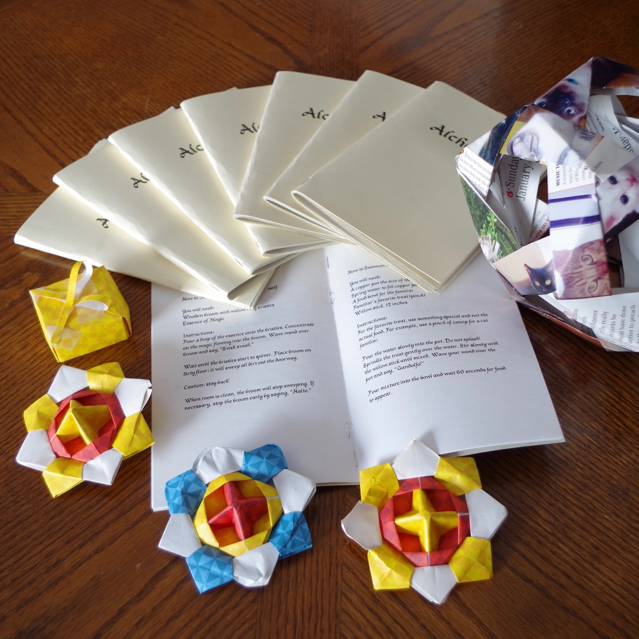 Benjamin's Origami Creations and Spellbook